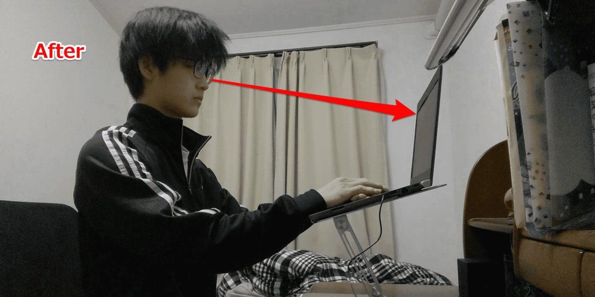 BoYataPCスタンドを使っている,画像